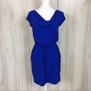 Cynthia Rowley Royal Blue Cowl Neck Dress
